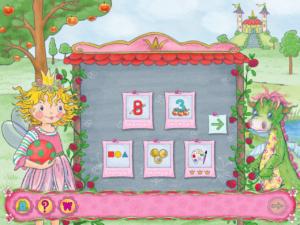 Lernerfolg Vorschule Prinzessin Lillifee Auswahlmenü