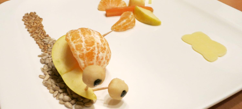 Apfel-Mandarinen-Schnecke