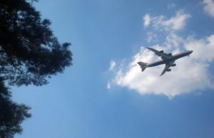 Flugzeug über dem See