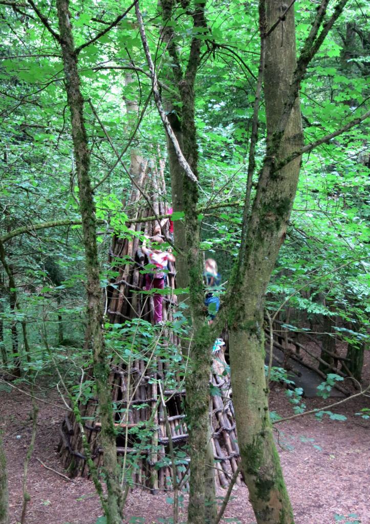 Grünes Meer: Klettern im Robin-Hood-Dorf
