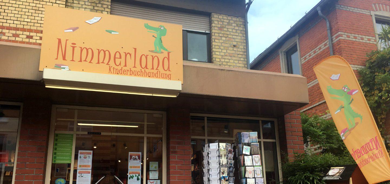 Eingangsschild Nimmerland Mainz