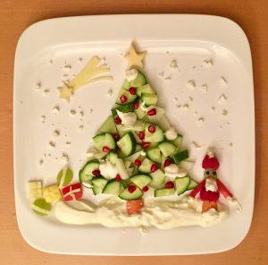 Weihnachtsbaum aus Gemüse