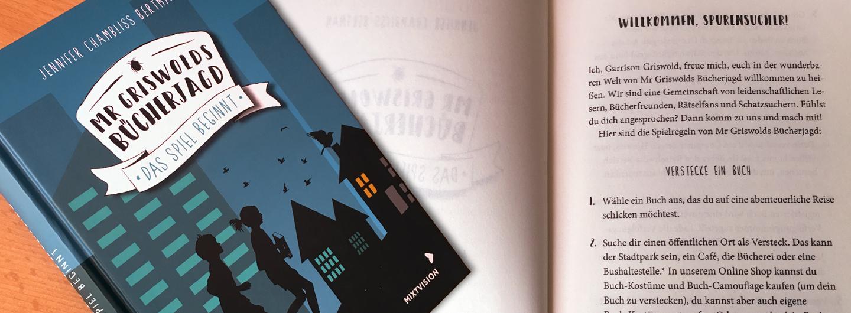 """Cover und erste Seite von """"Mr Griswolds Bücherjagd"""""""
