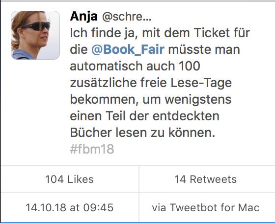 Tweet zur Buchmesse.